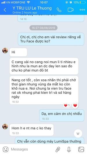 review khách hàng nubeauty viên tru face