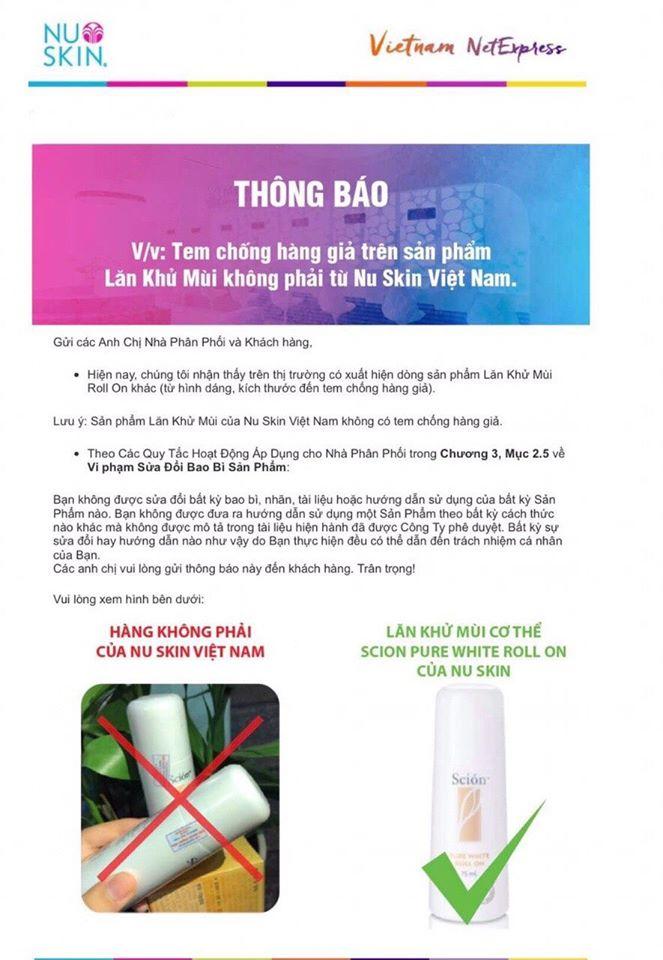 hình ảnh tem chống hàng giả của lăn scion Nubeauty.com.vn