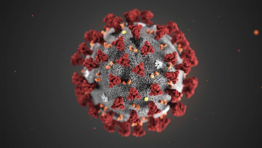 hình ảnh virus corona qua kính màu